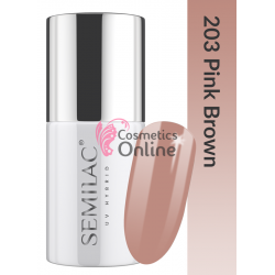 Oja UV Semilac 203 Nude Pink Brown 7 ml